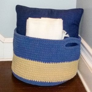 Hand Crafted Storage & Organization - Decorative Crocheted Basket